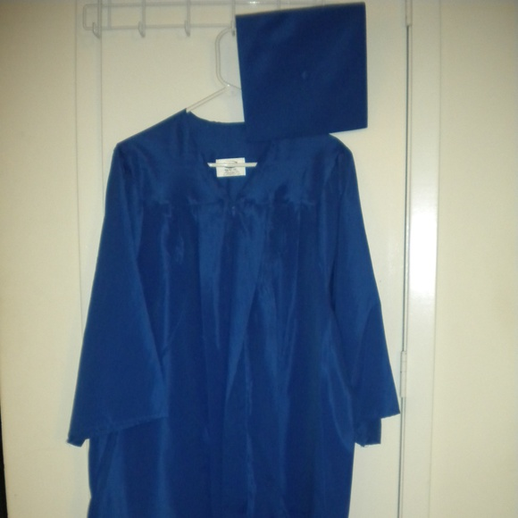 Jostens Accessories | Blue Graduation Gown And Cap | Poshmark